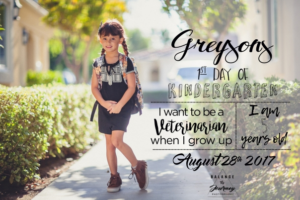 greysons firt day of Kindergarten 201733 August 28, 2017 copy copy